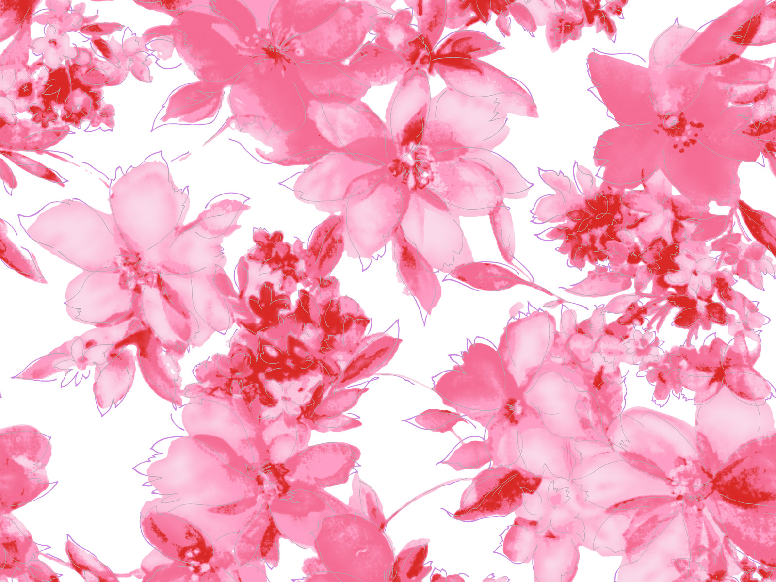 Flowers Planets Pink Flowers Wallpaper