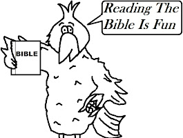 Child Reading Bible Coloring Sheet