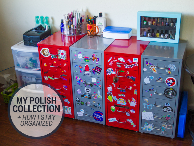 My Nail Polish Collection + How I Stay Organized!