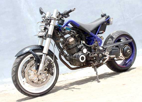 Foto Modifikasi Motor Honda Tiger Revo Street Fighter