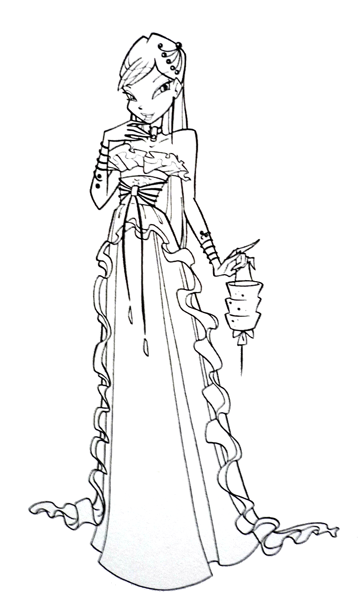gown coloring pages - photo#32