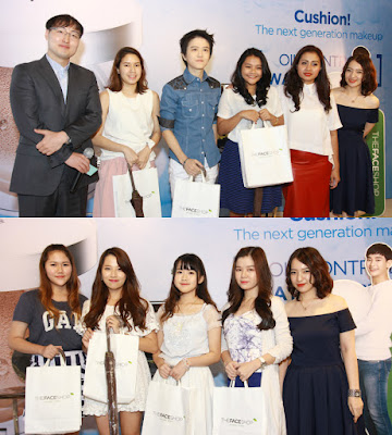 Para pemenang kuis, instagram, dan twitter saat acara launching The Face Shop