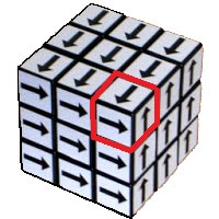 Shepherd' cube Arrow Rubik