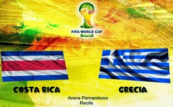 Costa Rica vs Grecia Octavos de Final