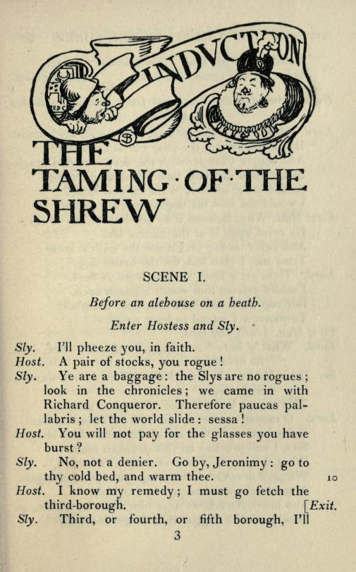 I need to write an essay on taming of the shrew by shakespeare.?
