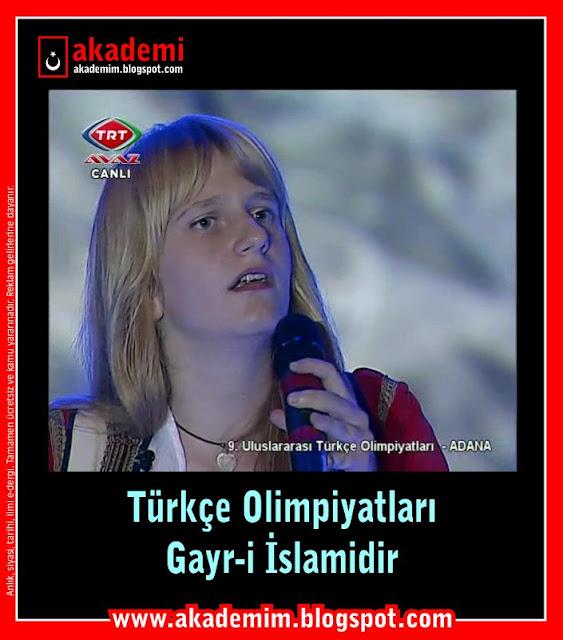 Zekat paraları ile haram meclisleri kurulamaz; Türkçe Olimpiyatları Gayr-i İslamidir