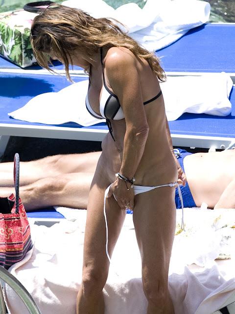 Fiona Swarovski Candid Topless Sunbathing Bikini Photos