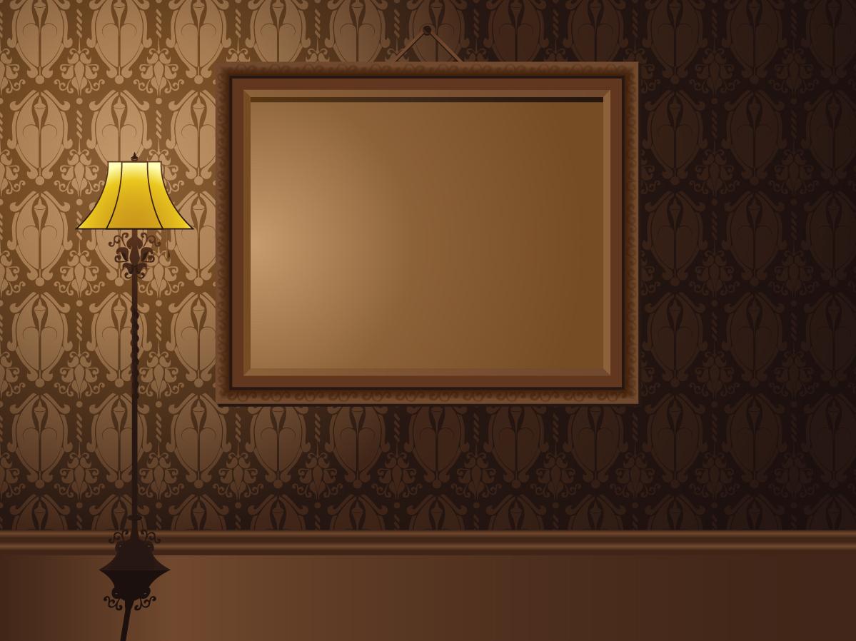 照明をあてた美しい額縁 beautifully realistic frame イラスト素材