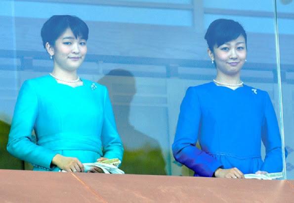 Crown Prince Naruhito and Crown Princess Masako, Japanese Princess Kako and Japanese Princess Mako, Japanese Prince Mikasa and his wife Princess Yuriko