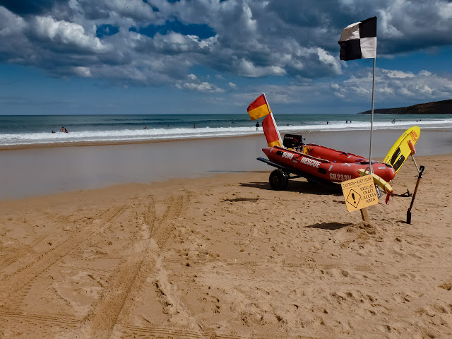 Surf Lifesaving boat on Jan Juc