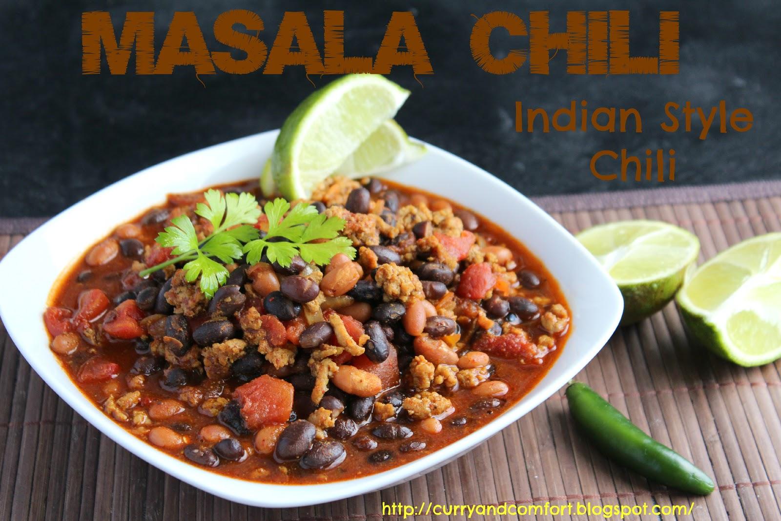 Kitchen Simmer: Masala Chili (Indian Spiced Chili)