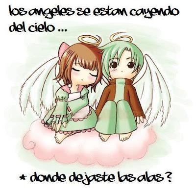 Los ángeles se están cayendo del cielo