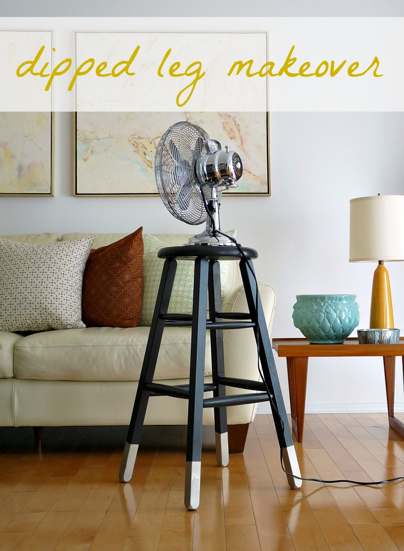 Pinterest Challenge Dipped Leg Stool Dans Le Lakehouse
