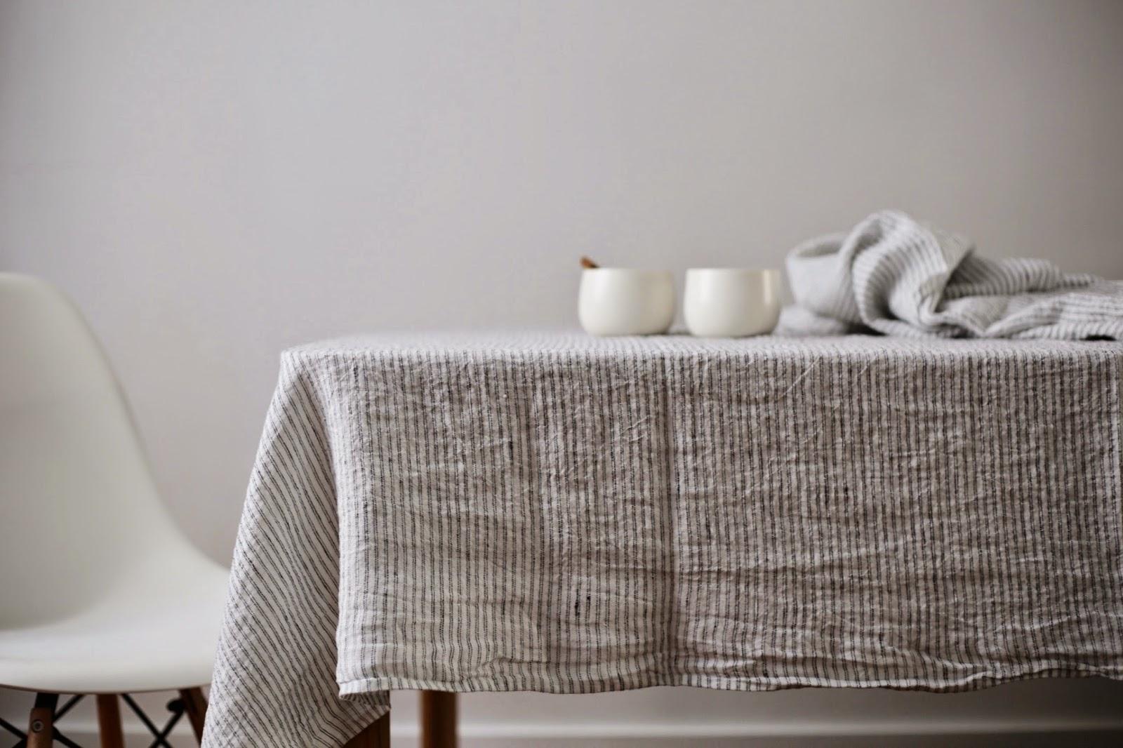 linen and milk les nappes ray es linge particulier. Black Bedroom Furniture Sets. Home Design Ideas
