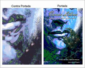 Portada y contra-portada libro VERSOS LIBRES, autoria de periodista y escritor Cesáreo Silvestre..