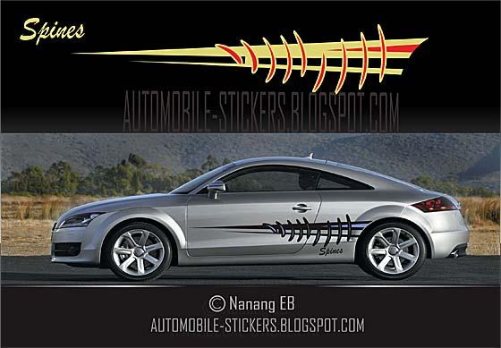 Spines Stripes Car Decals Automobile Stickers - Unique car decals stickers