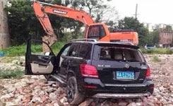 Car hitting random inspectors stopped