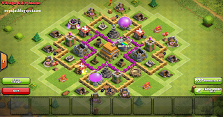 selesai membuat war trophy base TH level 6