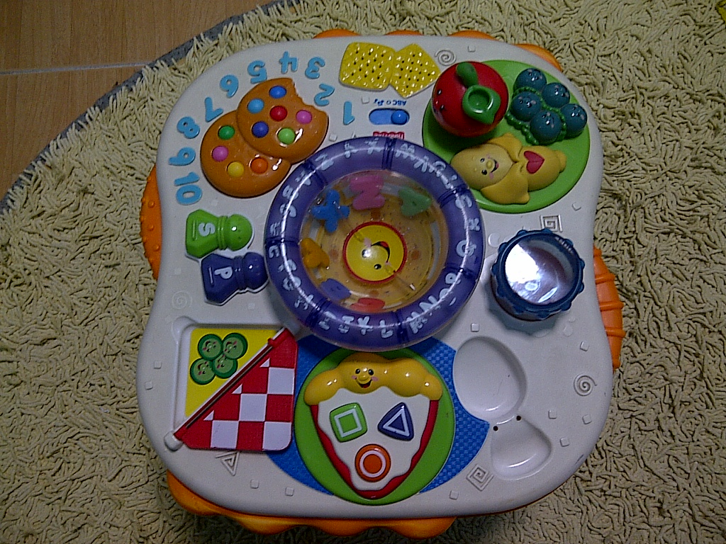 Special toys shop fisher price musical learning table food - Cuisine fisher price bilingue ...