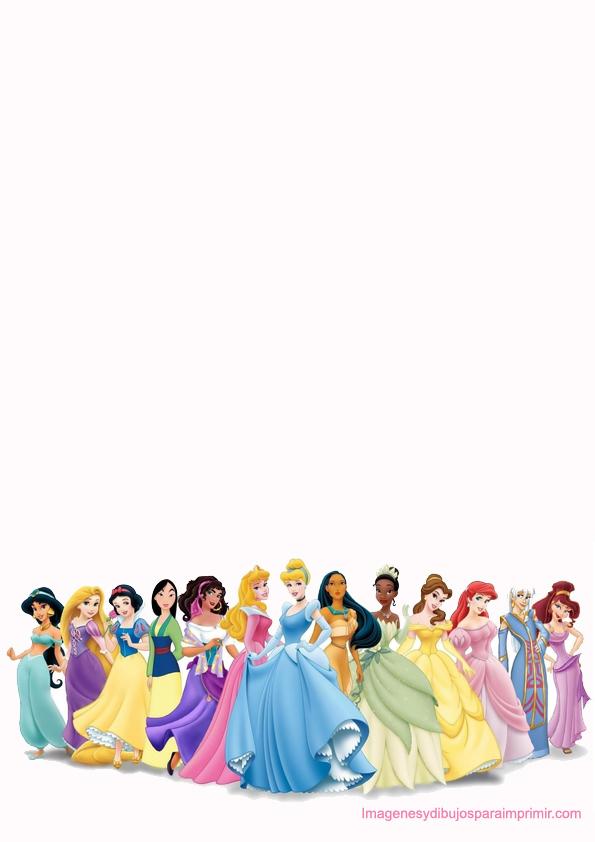 Papel princesa disney para imprimir