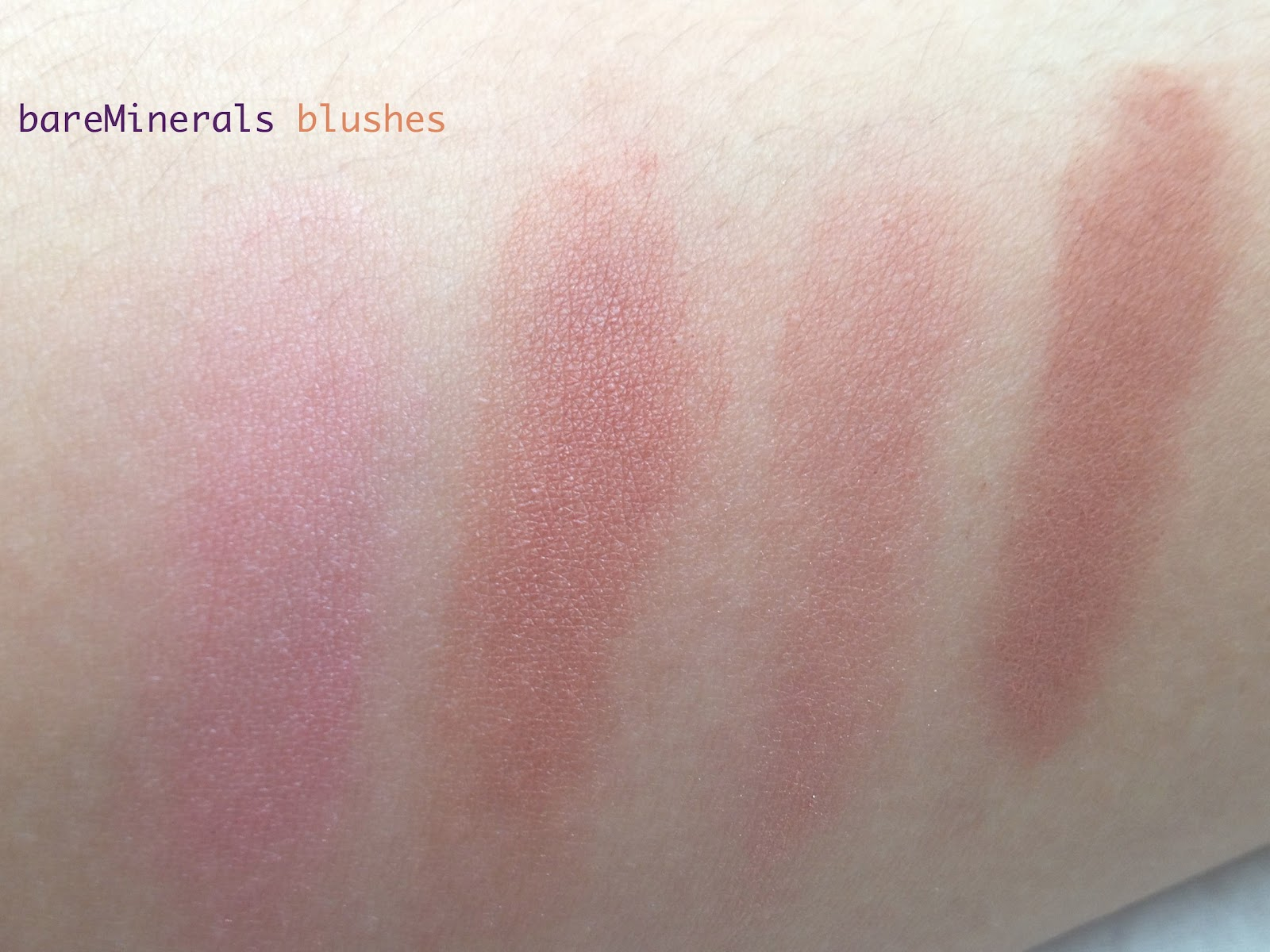 The Beauty Muse Ment Bareminerals Blushes Review And Swatches