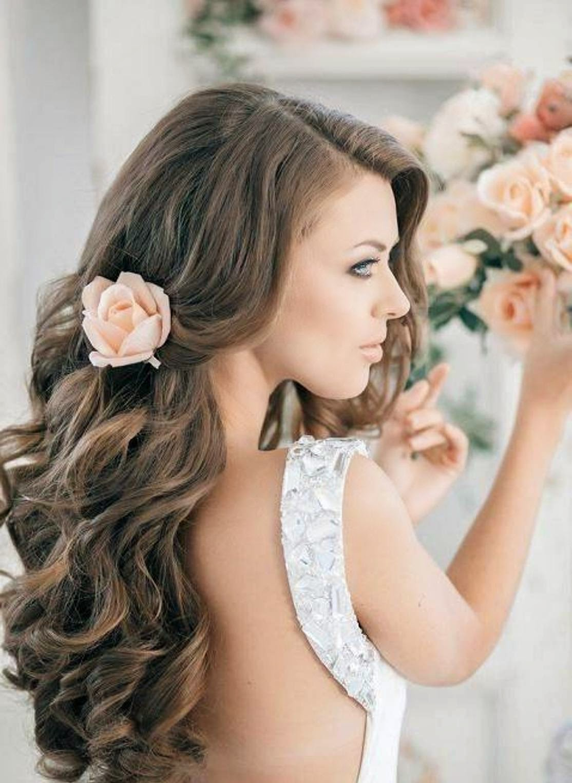 long wedding hairstyles Elegant Long Wedding