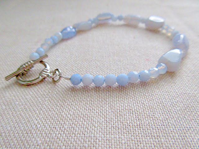 Light blue Avogadro's Number chemistry science bracelet from Kokoba.