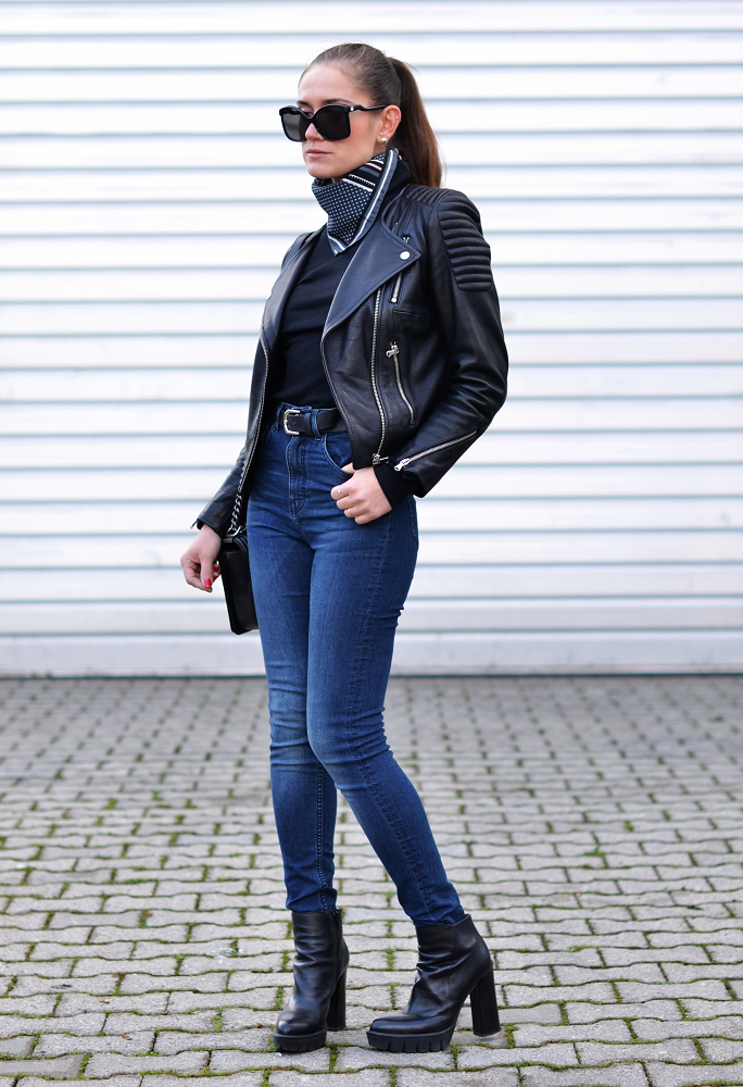 leather jacket H&M