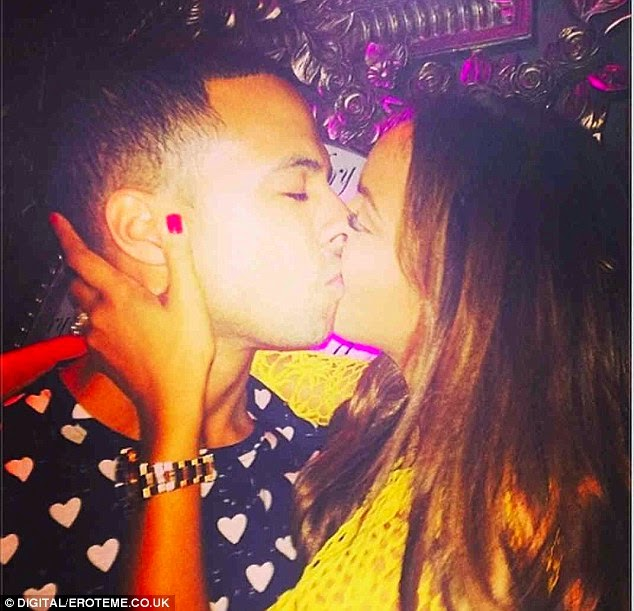 hot couple Kiss: Rochelle Humes and Marvin Humes get close on a personal photo