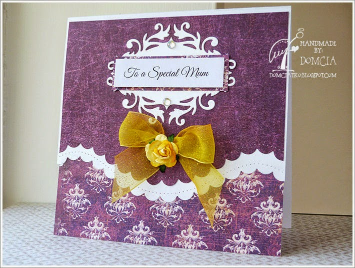 spellbinders borderabilities, mothers day card