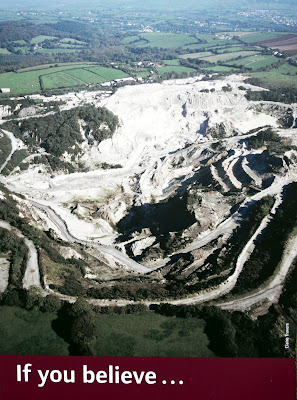Clay pit where Eden Project in Cornwall was built