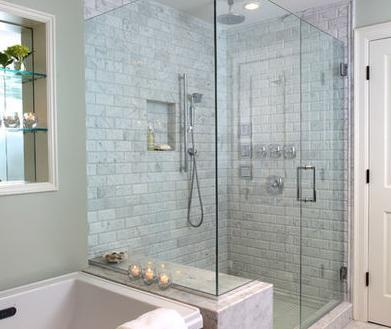 Ba os modernos dise os de interiores de casas fotos for Disenos de banos de casas modernas