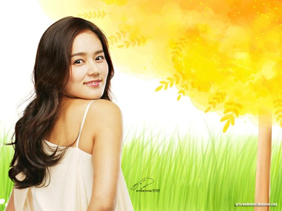 Girls Beauty Wallpaper Han Ga In 02
