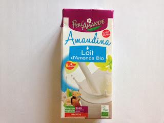 Lait d'amande bio Amandina Perl'Amande sans gluten sans lactose sans saccharose ajouté sans arômes