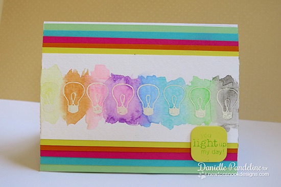 Lightbulb watercolors by Danielle Pandeline | Around the House Stamp Set | Newton's Nook Designs