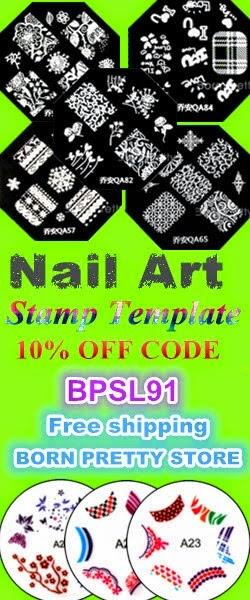 Born Pretty Store - Nail Art Stamp Template