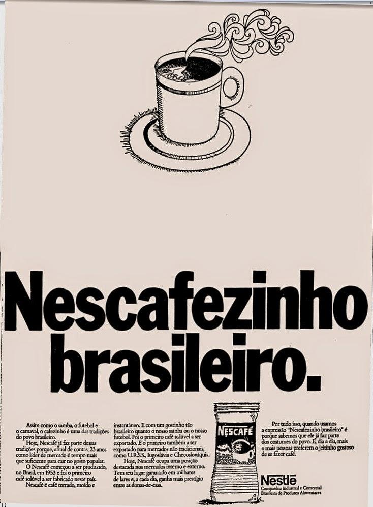 newcafé. nestle, café solúvel; propaganda antiga; década de 70. os anos 70; propaganda na década de 70; Brazil in the 70s, história anos 70; Oswaldo Hernandez;
