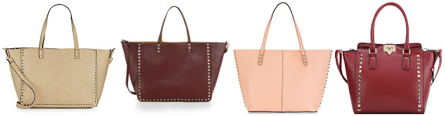 One of these studded totes is from Valentino for $3,795 and the other three are under $120. Can you guess which one is the designer bag? Click the links below to see if you are correct!