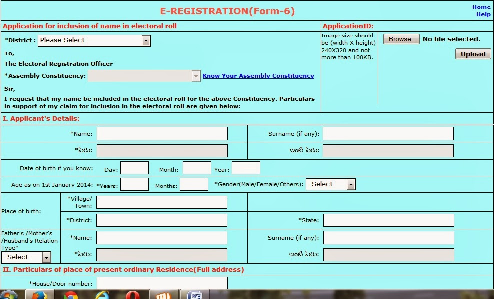 Voter ID Card Online Enrollment (or) Registration, Online Status ...