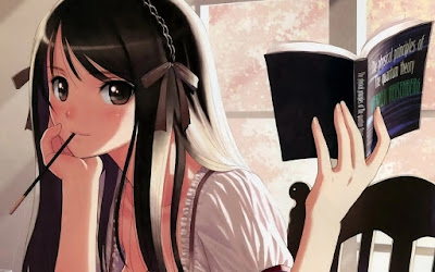 Anime Girl Studying