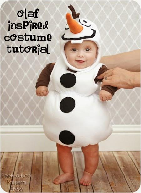 Disfraz inspirado en Olaf, el muñeco de nieve de Frozen