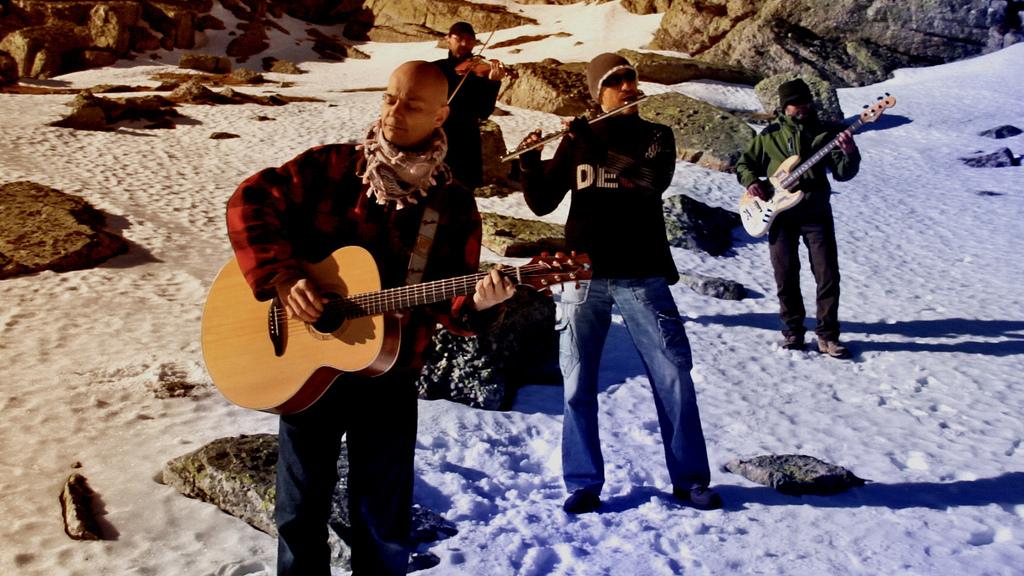 celtas cortos, imagen perteneciente al rodaje de un video de la web de la banda de Rock Celta
