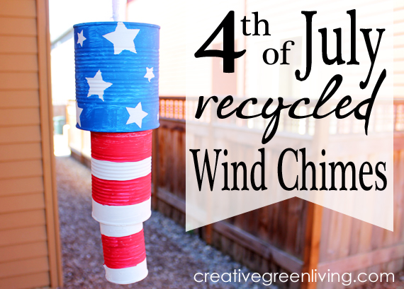 4th of July Recycled Wind Chimes | 20 Crafts for the 4th of July - Independence Day DIYs | directorjewels.com