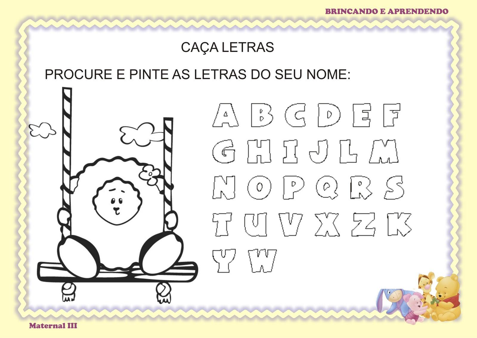 Atividade Alfabeto Projeto Identidade E Autonomia