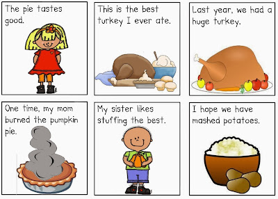 http://www.teacherspayteachers.com/Product/Thanksgiving-Questions-Versus-Statements-Pack-390473