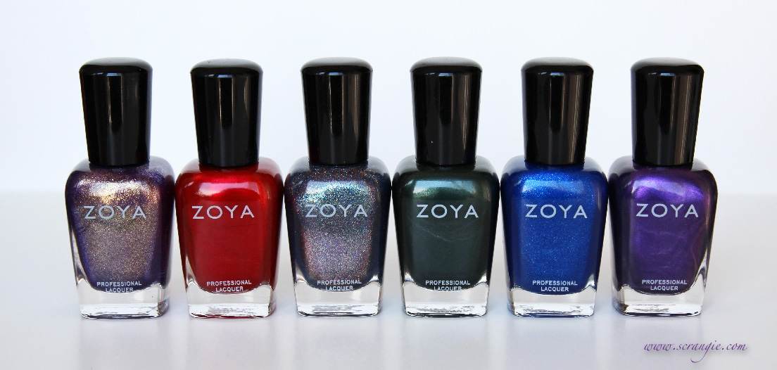 Scrangie: Zoya Diva Collection Fall 2012 Swatches and Review