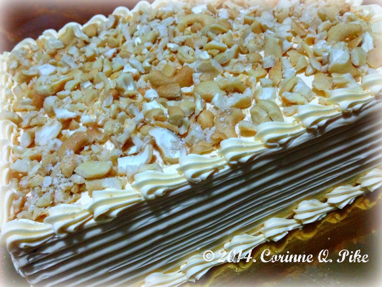 "SANS RIVAL (makes a four-layered 8""x6"" cake)"