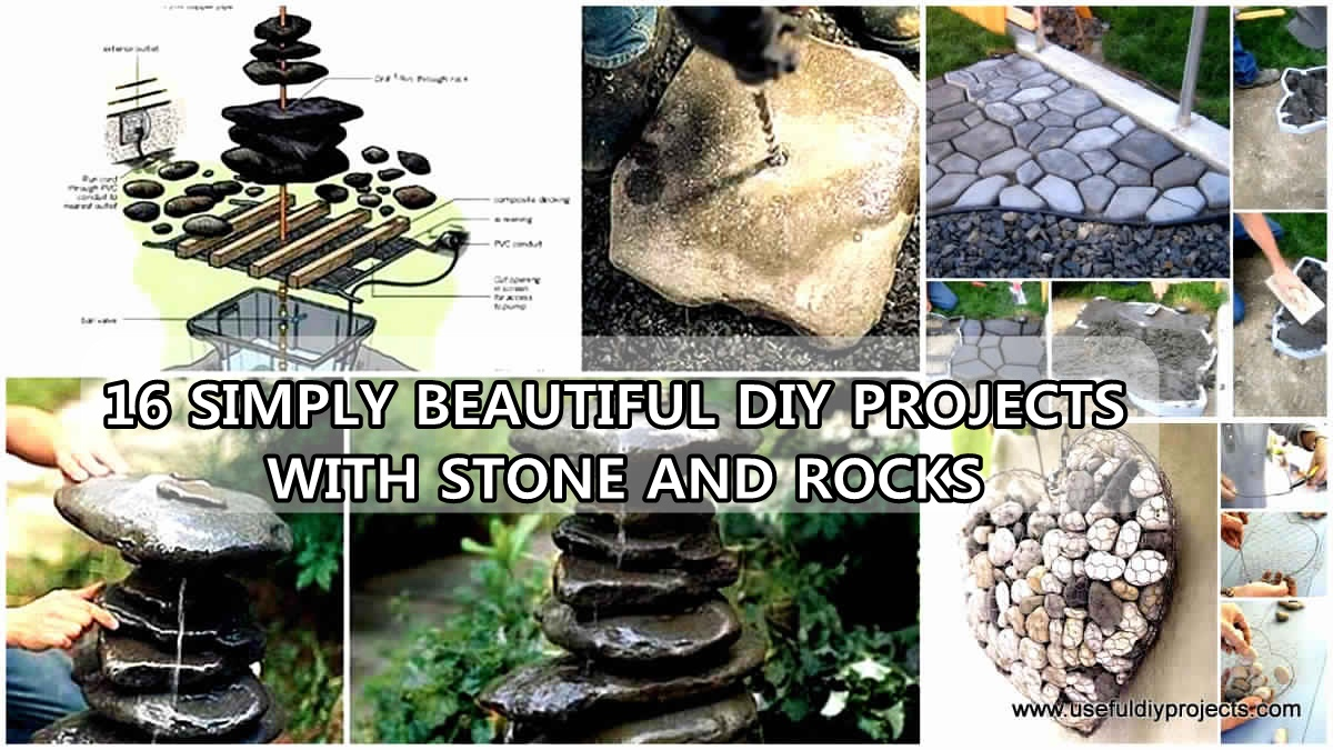 16 simply beautiful diy projects with stone ans rocks for Diy projects with rocks