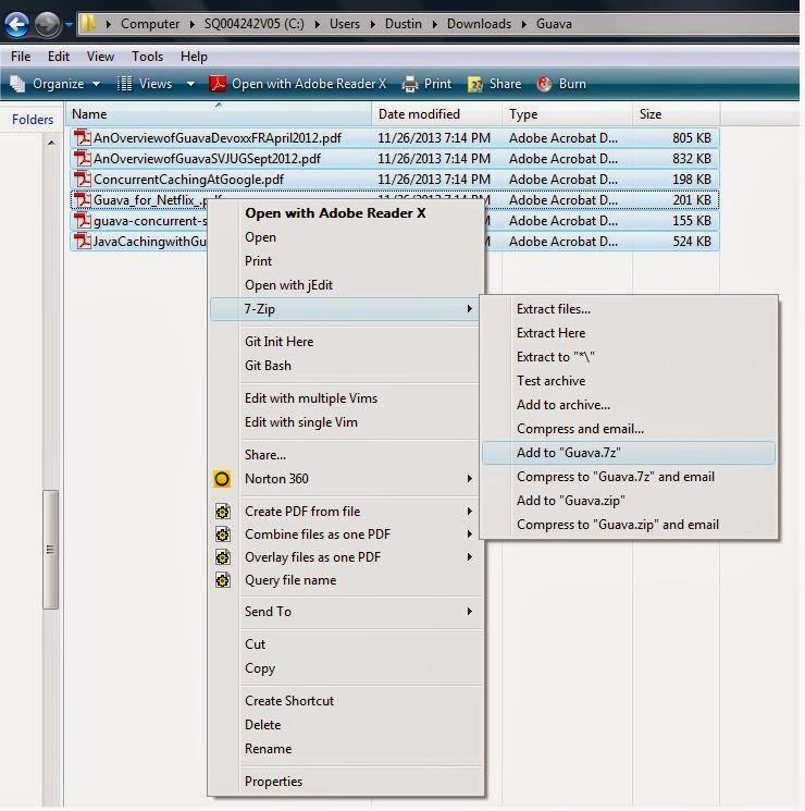 Compressed Zip Folder Program