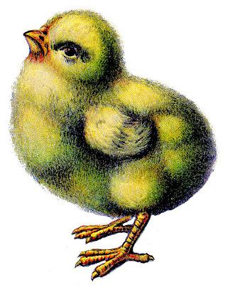 Vintage Stock Easter Image Peep